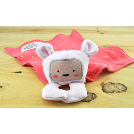 doudou lange ours rose