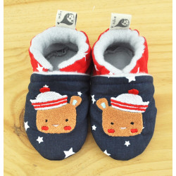 chaussons ours marin